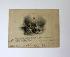 MEMBERSHIP CARD FOR THE NATIONAL ANTI-CORN LAW LEAGUE